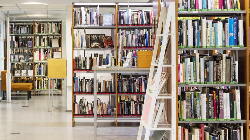 Näkymä Kuvataideakatemian kirjastosta