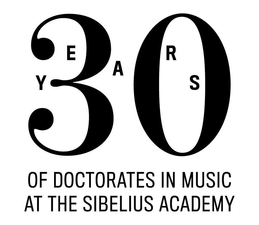 30 years of doctorates in music at the sibelius academy, logo