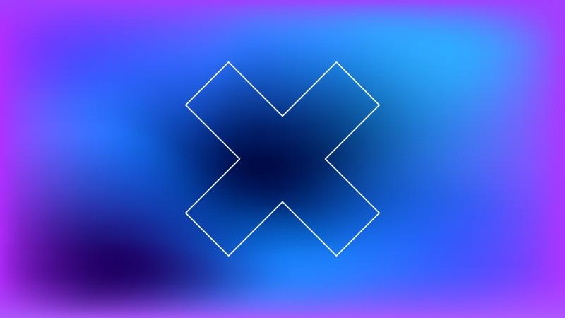 x-logo on blue background