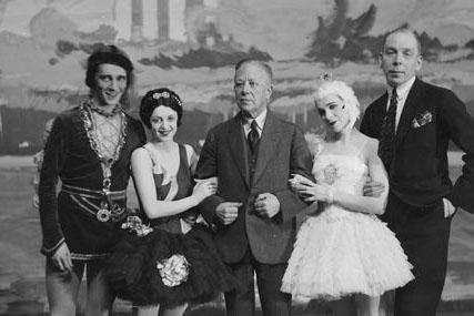 Baletin 10-vuotisjuhla Joutsenlammen merkeissä 1932.