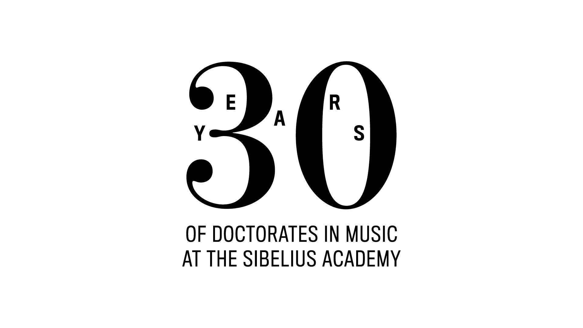 Doctors of Music -juhlavuoden logo englanniksi