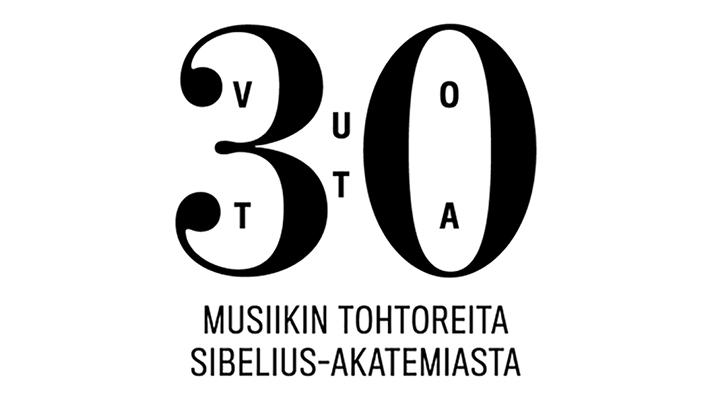 30 vuotta musiikin tohtoreita -juhlavuosilogo