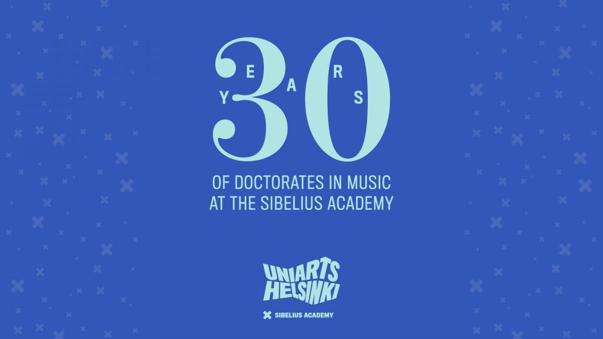 Logo for 30 years of doctorates of music anniversary