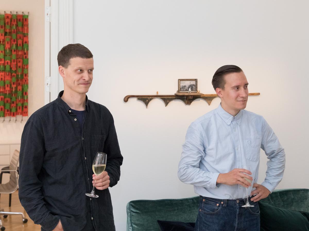 Alumnit Olli Keränen ja Joonas Hyvönen.
