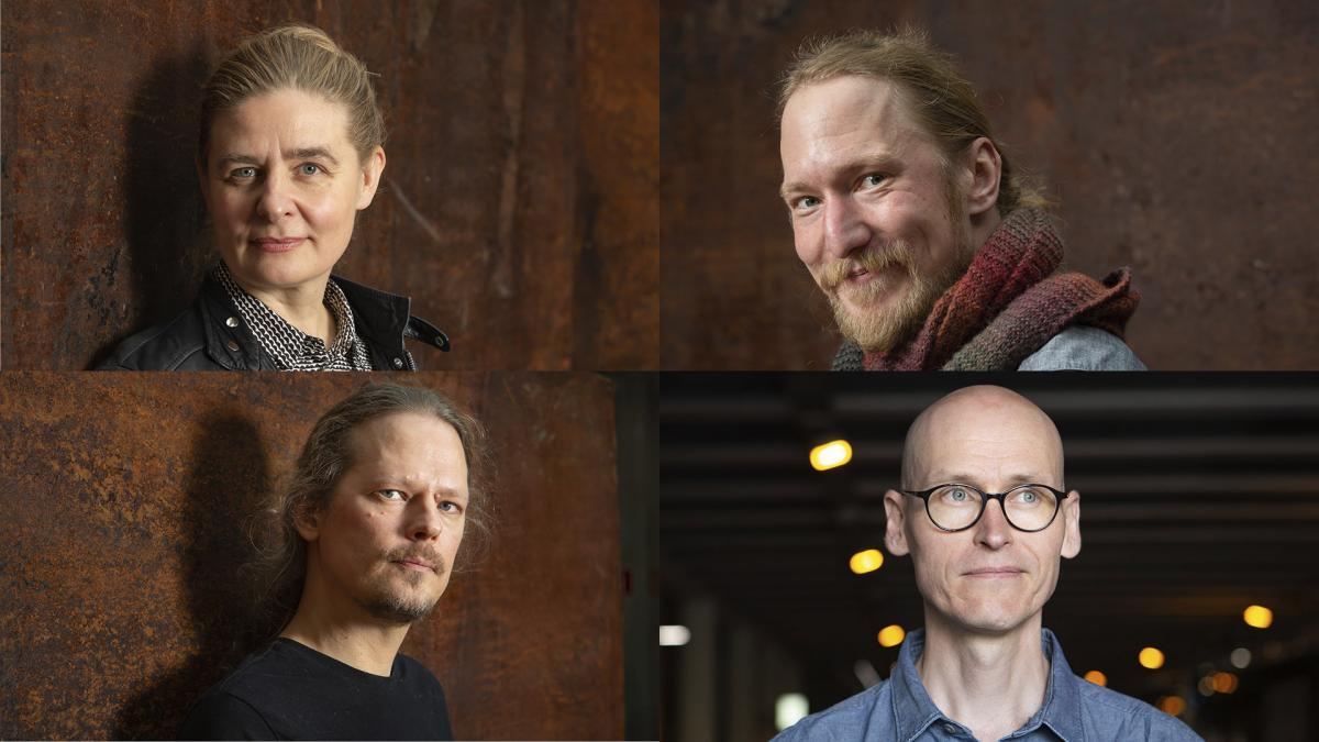 Riikka Pelo, Antti Salminen, Mikael Brygger ja Jussi Valtonen
