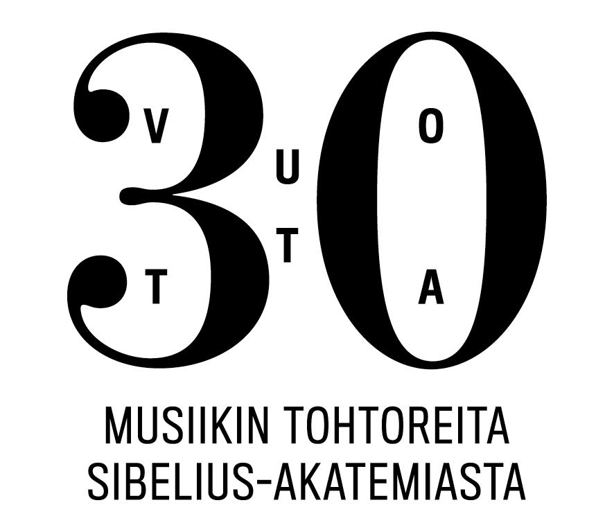 Logo: 30 vuotta musiikin tohtoreita Sibelius-Akatemiasta