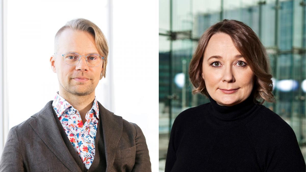 Otso Lähdeoja ja Susanna Välimäki