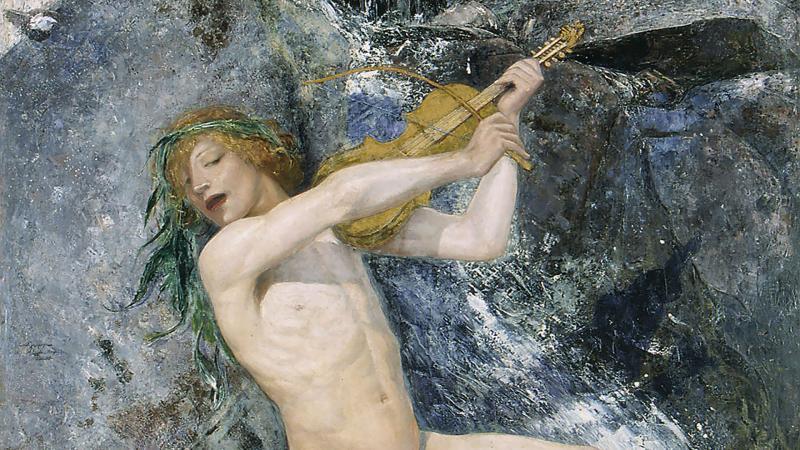 Maalaus: Ernst Josephson, Strömkarlen, 1884