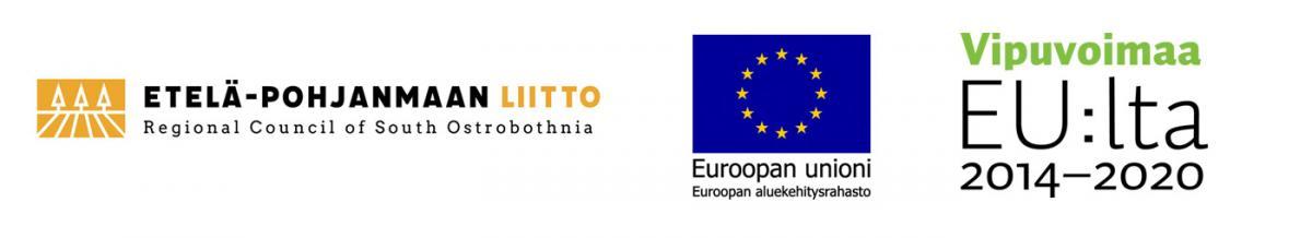Etelä-Pohjanmaan liiton, EU:n ja Vipuvoimaa EU:lta logot