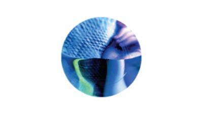 Pyöreäksi rajattu monen lähikuvan kollaasi erilaisista pinnoista, joita ei tunnista.