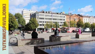 Landscape picture of Vaasa city.