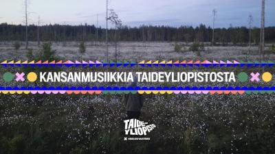 Suomalainen suomaisema kesäisenä aamuyönä.