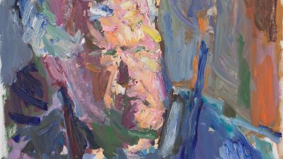 Abstrakti maalaus Erkki Rautiosta.